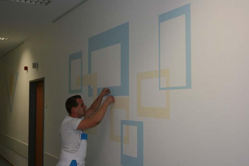 Wand Streichen Oben Rand Lassen : Wandgestaltung Mit Rand  Individuelle Wandgestaltung im Krankenhaus